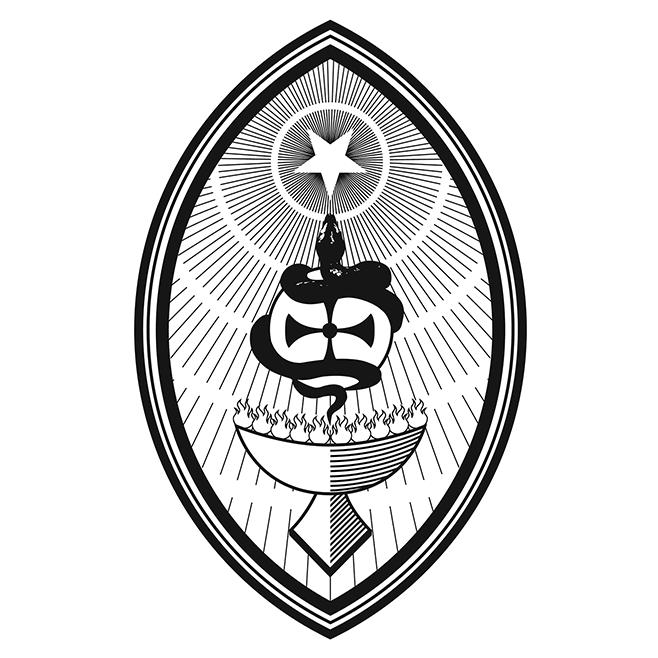 Ordo Astri Symbol: Star and Snake Mandorla or Vesica Piscis