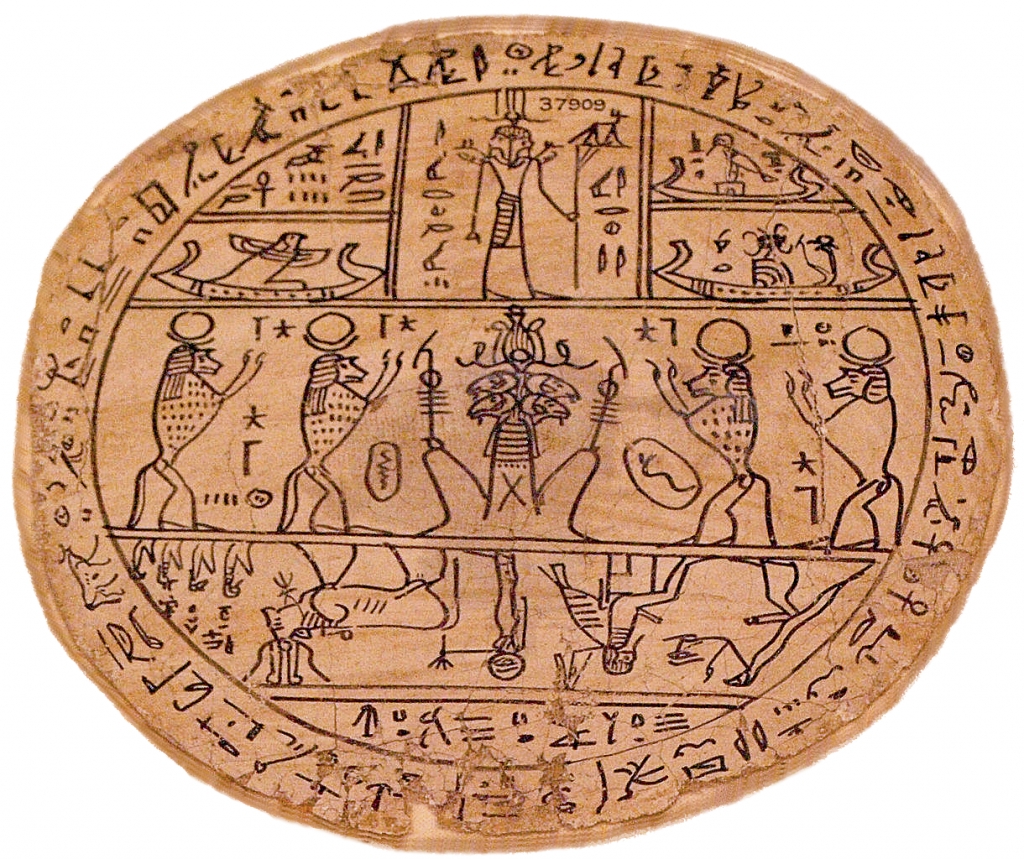 Three Worlds: Egyptian Artefact depicting regions of the duat