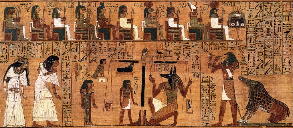 Weighing of the Heart from Papyrus of Ani