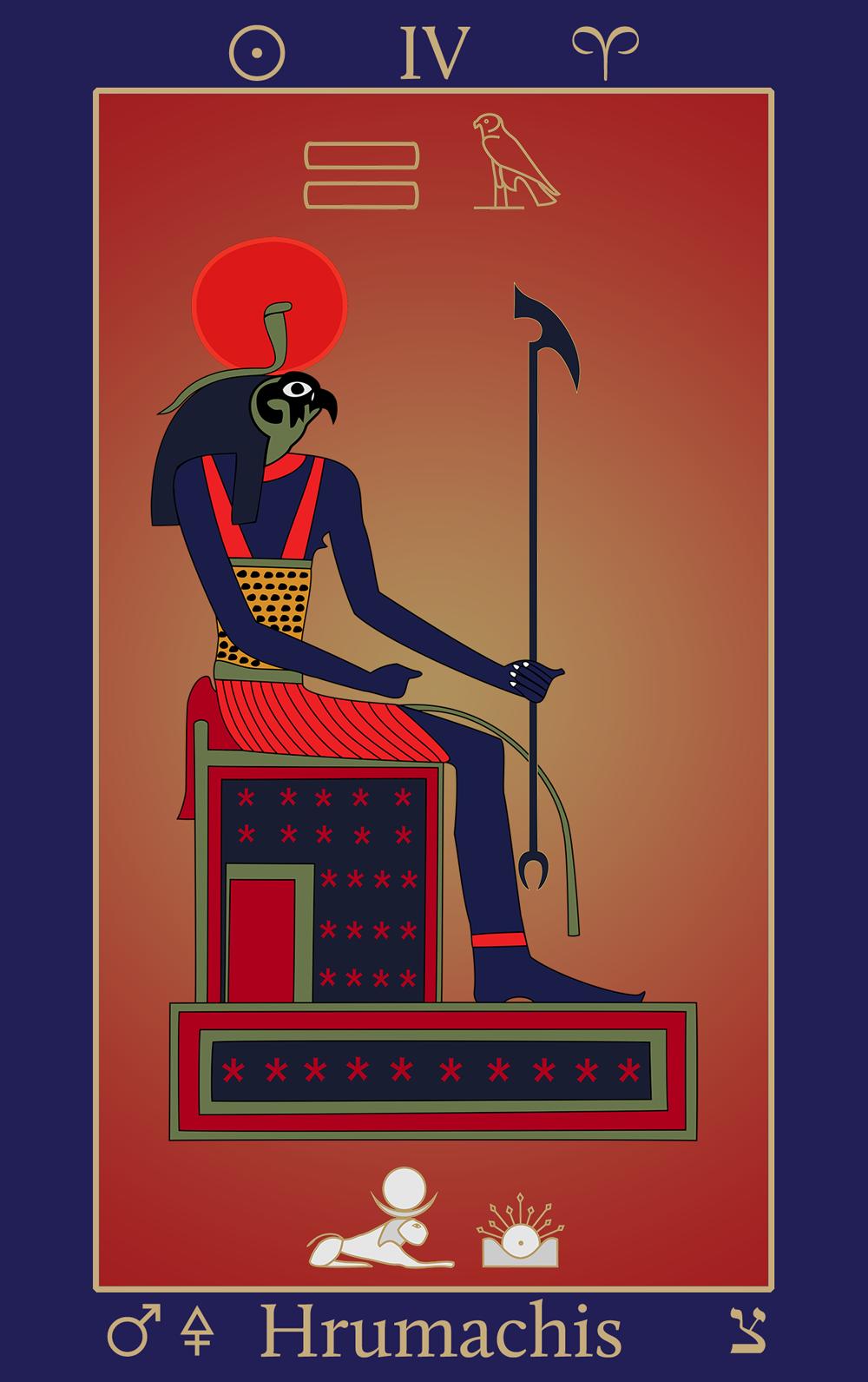 Egyptian Tarot of Thelema Hrumachis Atu XI