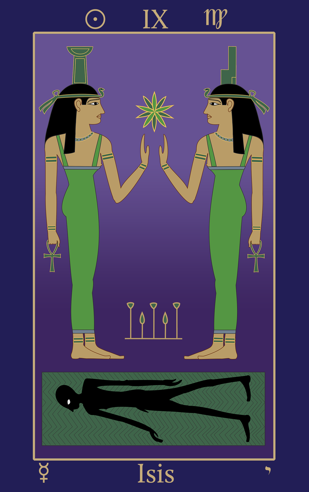 Virgo: Egyptian Tarot of Thelema Isis IX