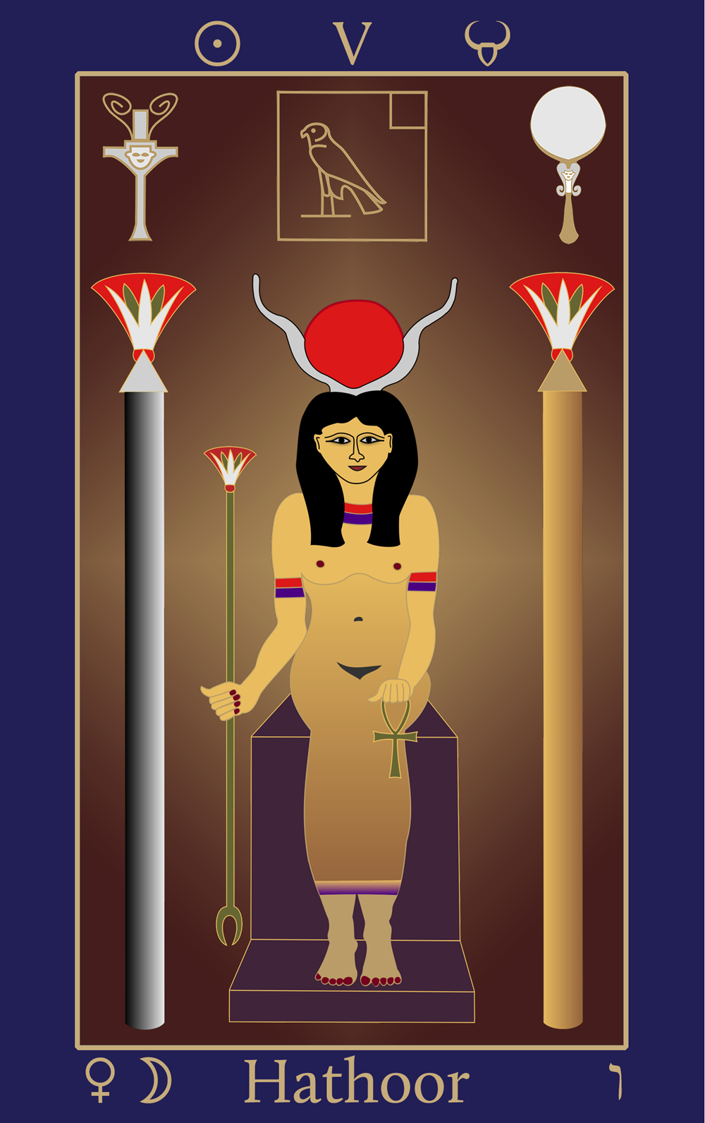 Egyptian Tarot of Thelema Hathoor V