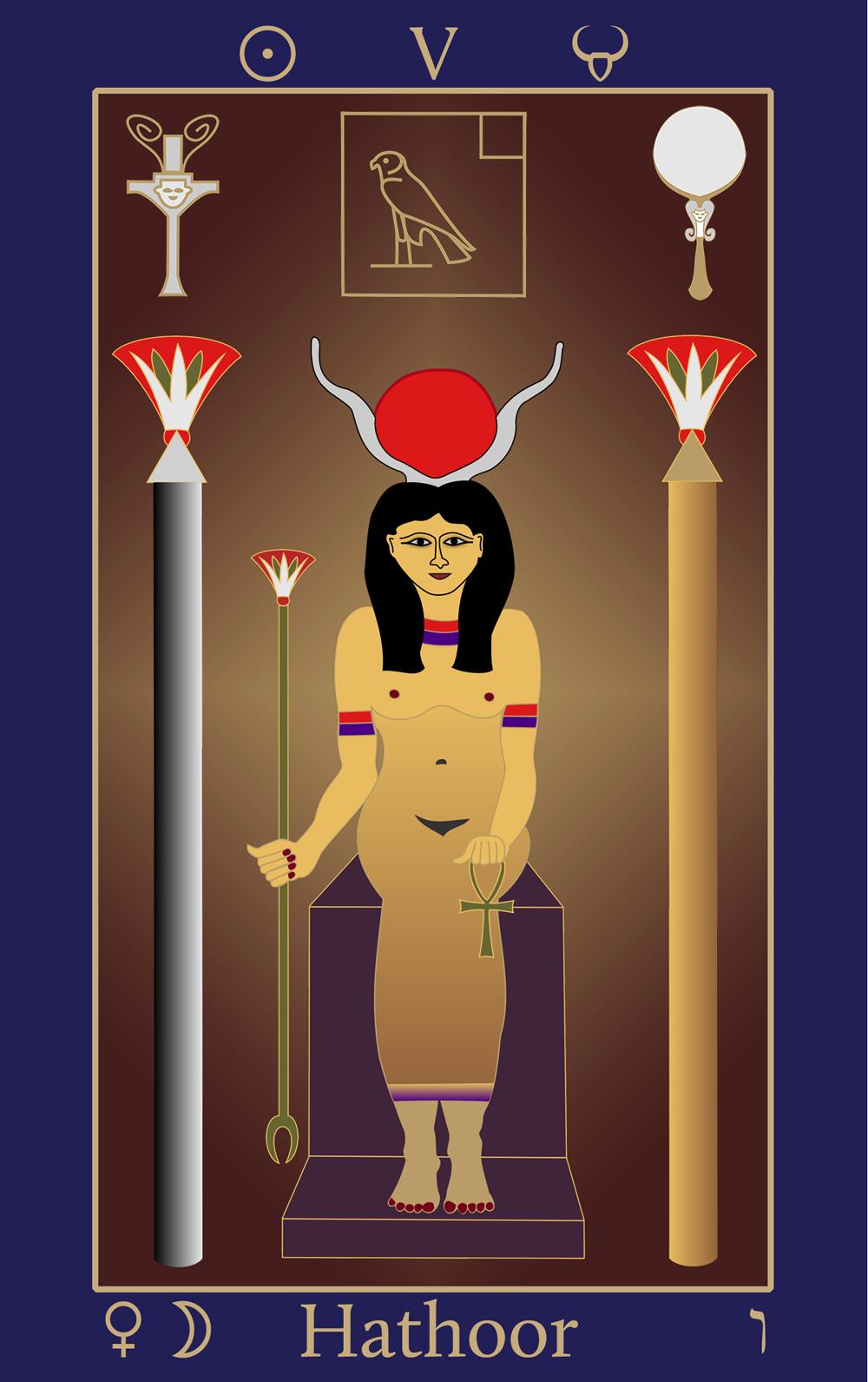 Taurus: Egyptian Tarot of Thelema Hathoor V
