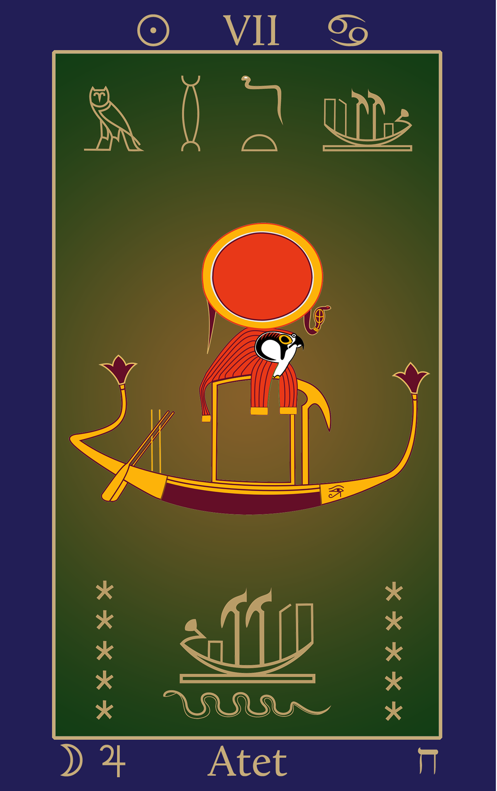 Egyptian Tarot of Thelema Atet VII: Sun Boat of Ra