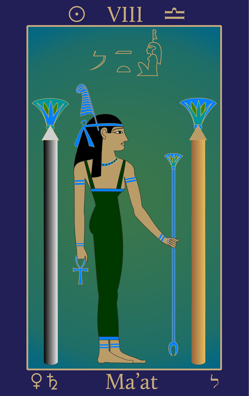 Egyptian Tarot of Thelema Maat VIII