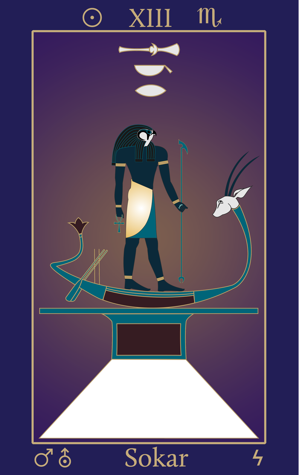 Egyptian Tarot of Thelema Sokar XIII