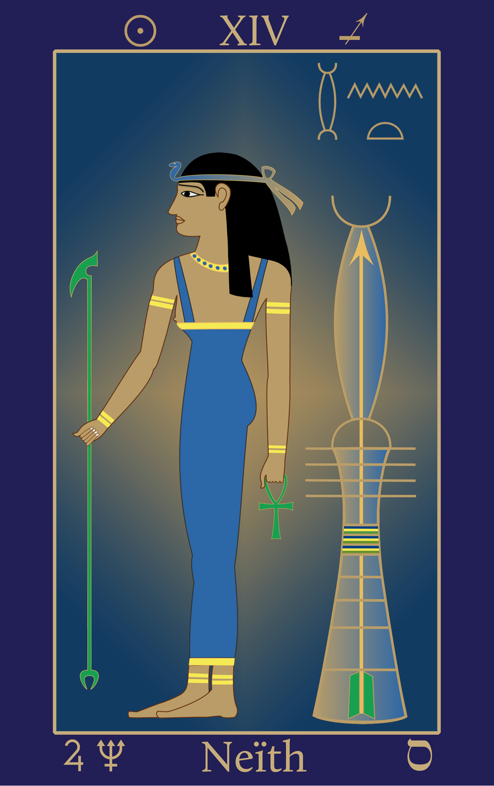 Sagittarius: Egyptian Tarot of Thelema Neïth XIV