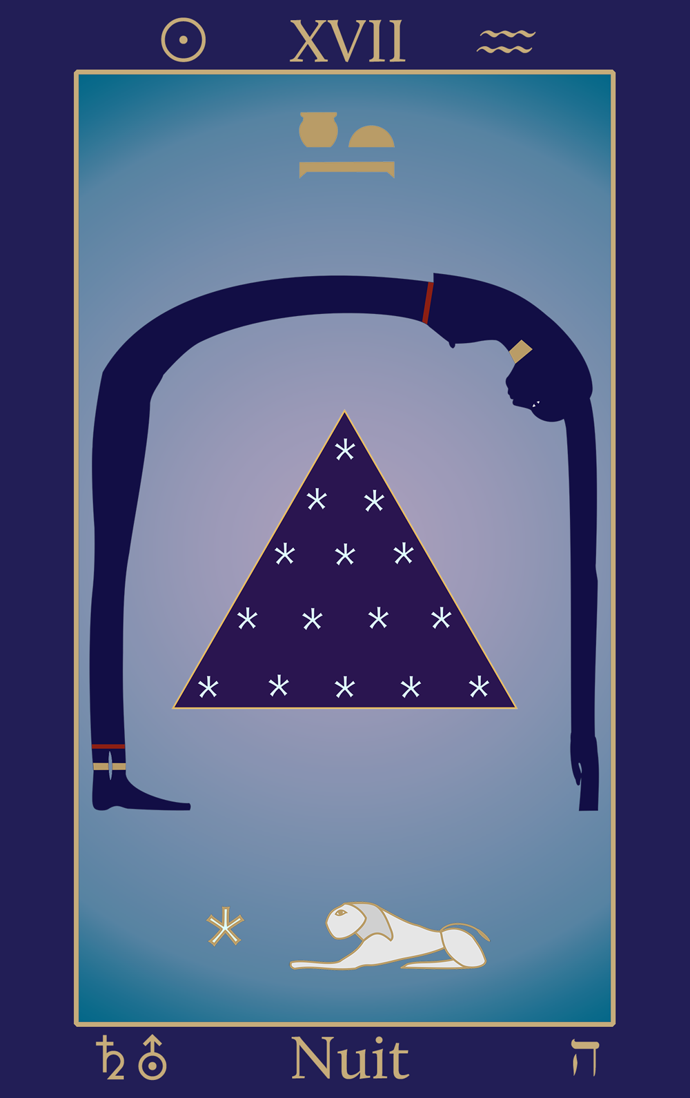 Aquarius: Egyptian Tarot of Thelema Nuit XVII
