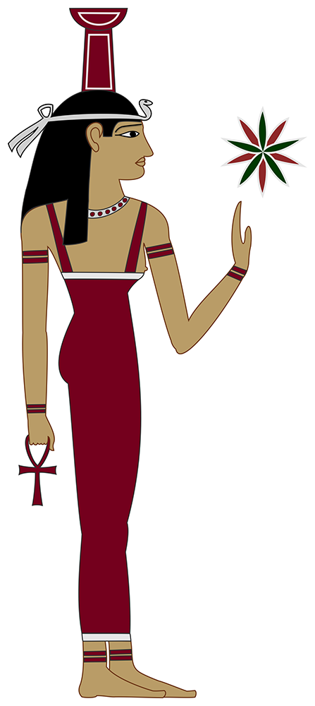 Causal Determinism: Nebhet (Nephthys) upholding the Star of Egypt