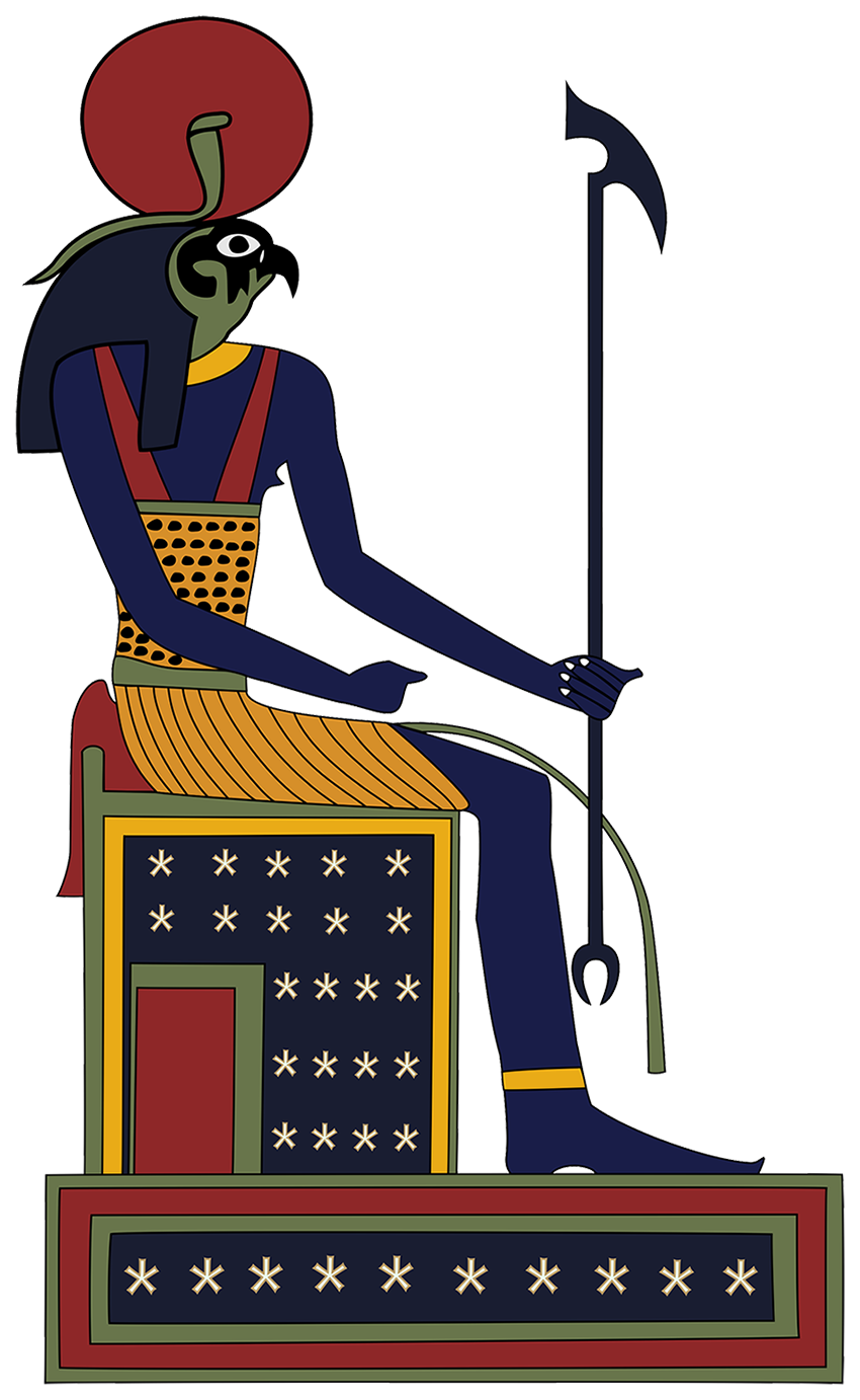 Hrumachis from Egyptian Tarot of Thelema Atu IV