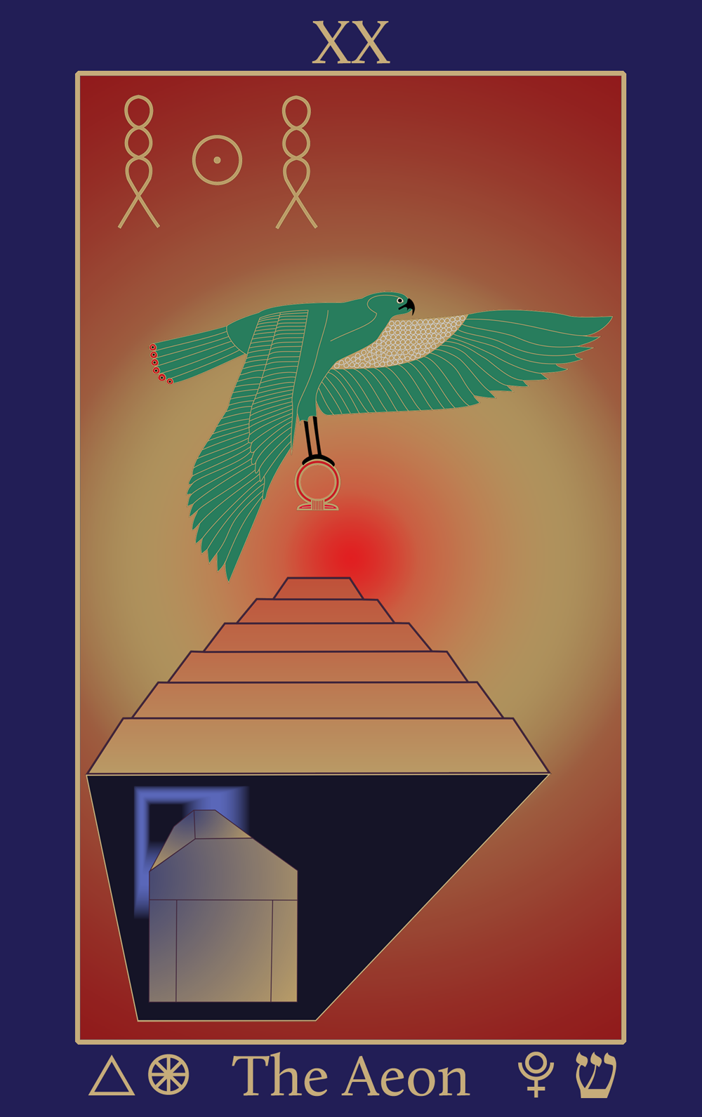 Fire: Egyptian Tarot of Thelema The Aeon XX