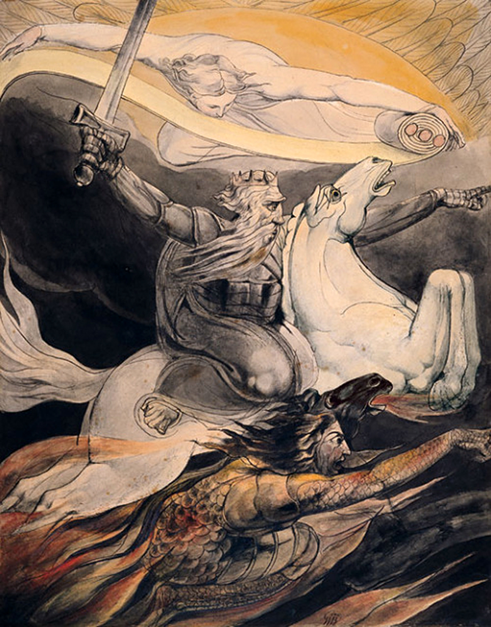 Enochian Keys to Apocalypse: Death on a Pale Horse William Blake (1800)